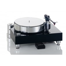 Acoustic Solid Wood Black Turntable