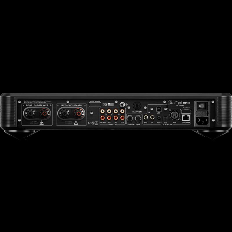 Bel Canto Design Black ACI 600 rear Australia