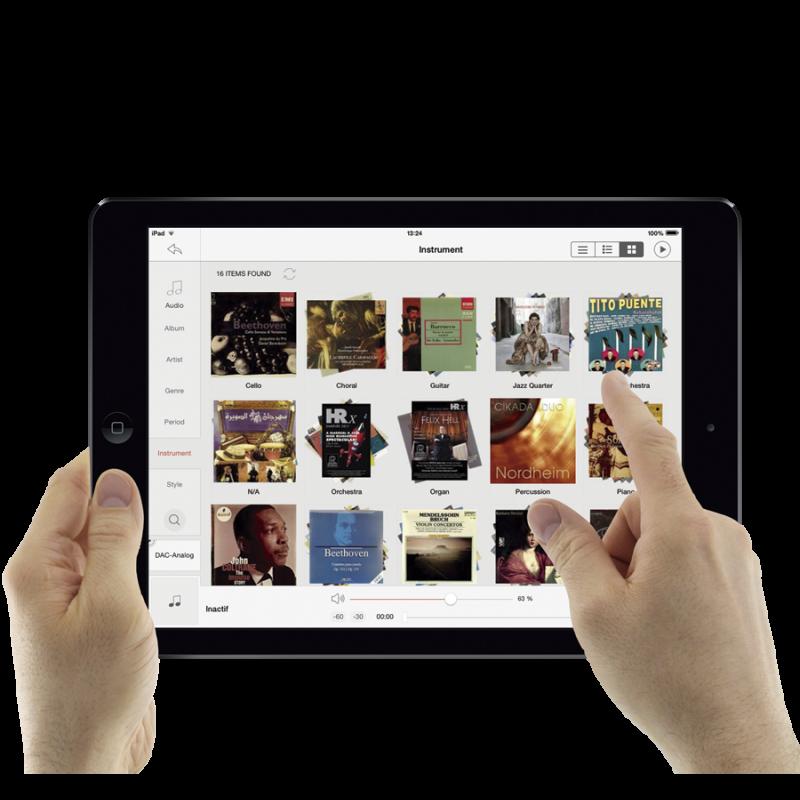 Digibit Aria 2 Music Server iPad app